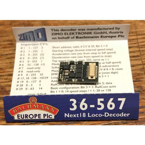 36-567 Next 18 Locomotive Decoder