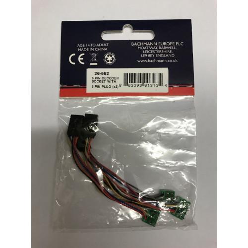 36-563 6-Pin Decoder Socket with 8-Pin Plug (x3)