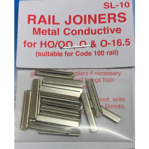 SL-10 Metal Rail Joiners for Gauges 00, HO, O and O-16.5