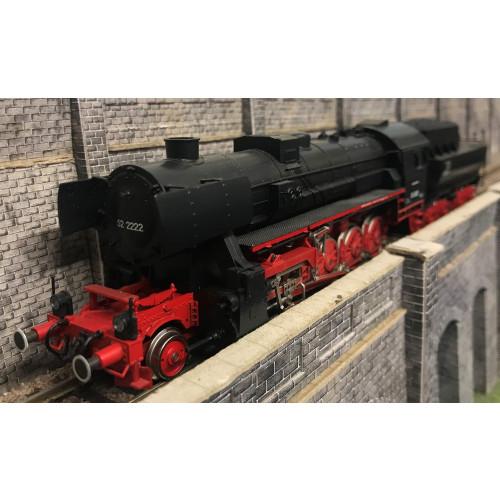 Liliput HO Scale 5203 2-10-0 Steam Locomotive No.52 2222 in DB Black
