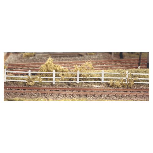 216 Ratio Kit Lineside Fencing White - N Gauge