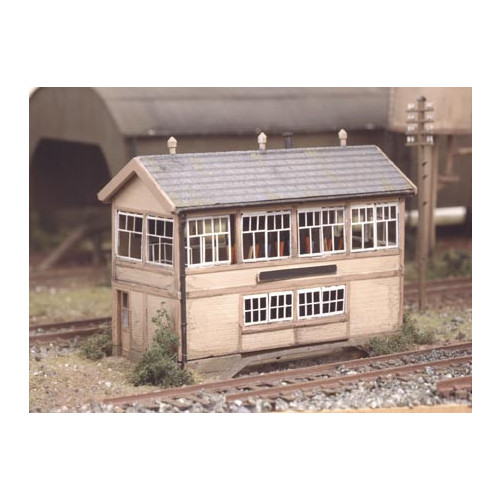 223 Ratio Kit GWR Wooden Signal Box (inc. interior) - N Gauge