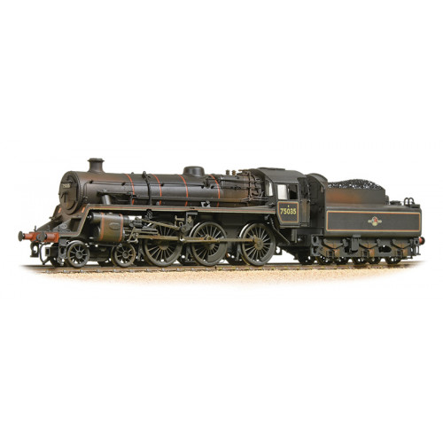 31-119 BR Standard Class 4MT Locomotive No.75035 in BR Lined Black with Late Crest and Weathered
