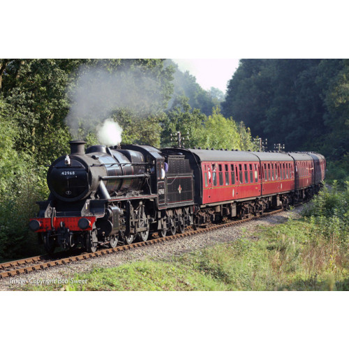 31-692 Stanier Mogul 42968 BR Lined Black Late Crest (Preserved)