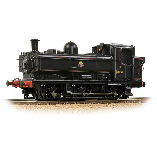 32-205A GWR 8750 Pannier Tank Locomotive No.8771 in BR Lined Black with Early Emblem