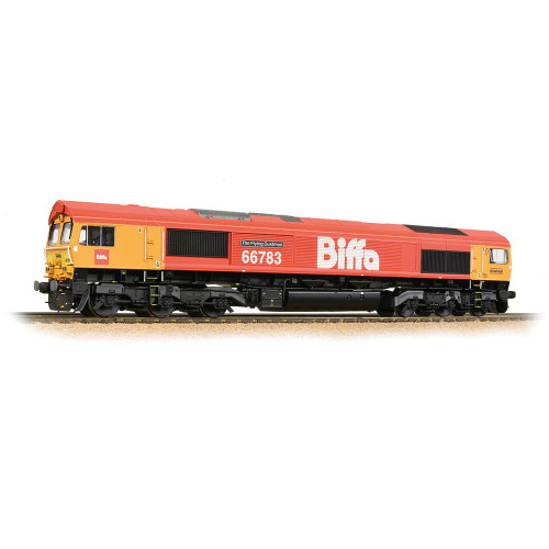 32-741 Class 66/7 Diesel Locomotive No.66783 The Flying Dustman in  GBRf Biffa Red Livery