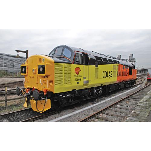 "32-789 Class 37/0 Diesel Locomotive No.37099 ""Merl Evans"" in Colas Livery with Split Headcode"