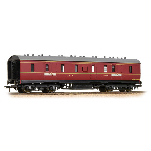 34-327E LMS 50ft Full Brake Coach in LMS Crimson Livery