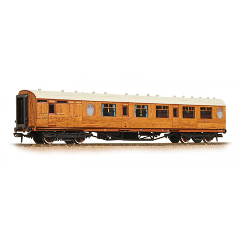 34-435 Thompson Composite Brake Coach LNER Teak