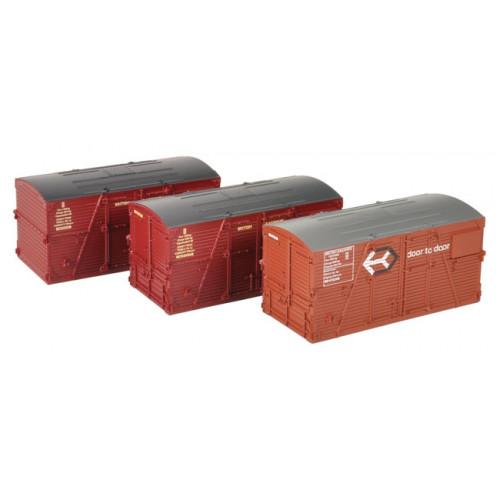 36-004A BD Large Containers Bauxite & Crimson (x3)
