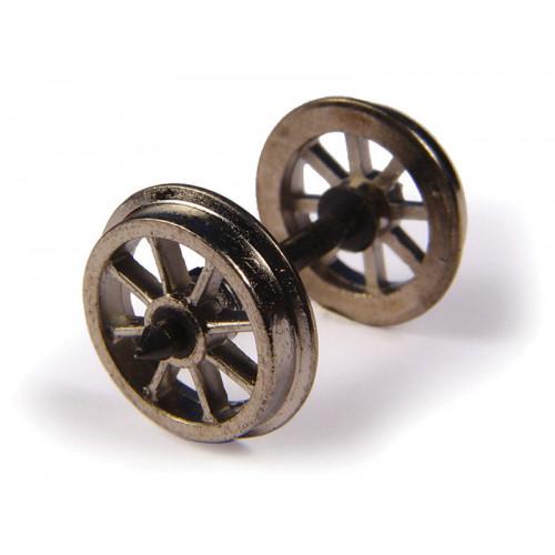 36-014 Metal Spoked Wagon Wheels (x10)