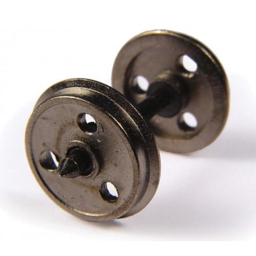 36-015 Metal 3-Hole Disc Wagon Wheels (x10)