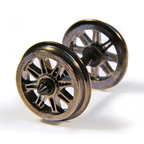 36-028 Metal Split Spoked Wagon Wheels (x10)