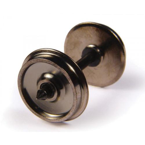 36-034 Brass Turned Wagon Disc Brake Wheels (x10)
