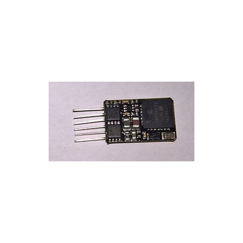 36-568A 6 Pin DCC Loco-Decoder with Back EMF featuring Railcom®
