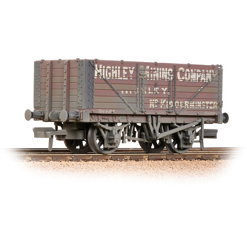 37-093 7 Plank End Door Wagon in Highley Mining Company Ltd Livery - Weathered