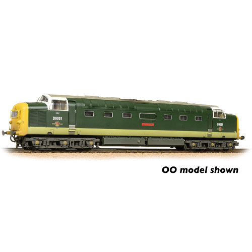 371-289 Class 55 Deltic Diesel Locomotive No.D9001 St. Paddy in BR Two-Tone Green with Full Yellow Ends - Weathered