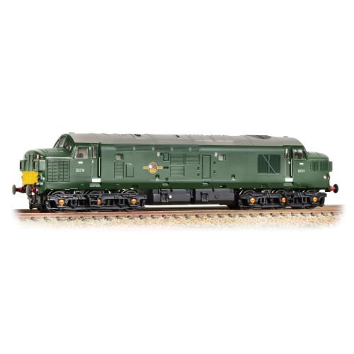 371-457 Class 37/0 D6714 BR Green Small Yellow Panel Split Head Code