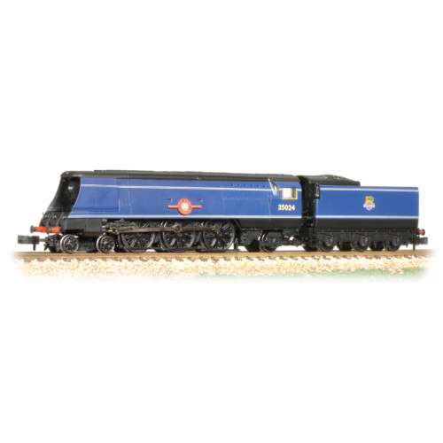 372-310 Merchant Navy Class 35024 'East Asiatic Company in BR Express Blue with early Emblem