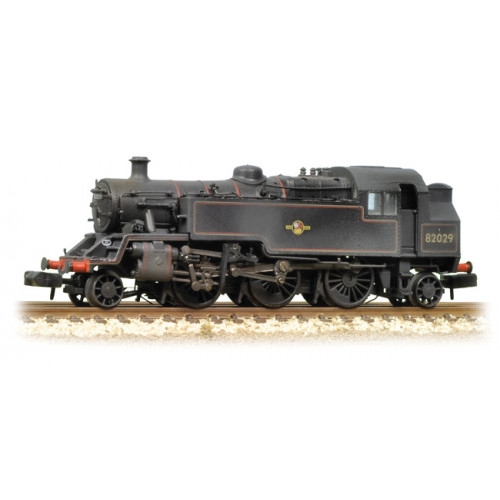 372-330 BR Standard Class 3MT Tank Locomotive No.82029 in BR Black with Late Crest - Weathered