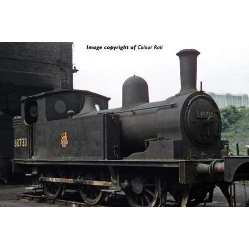 372-826 Class E1 J72 0-6-0T Tank Locomotive No.68733 in BR Black with Early Emblem
