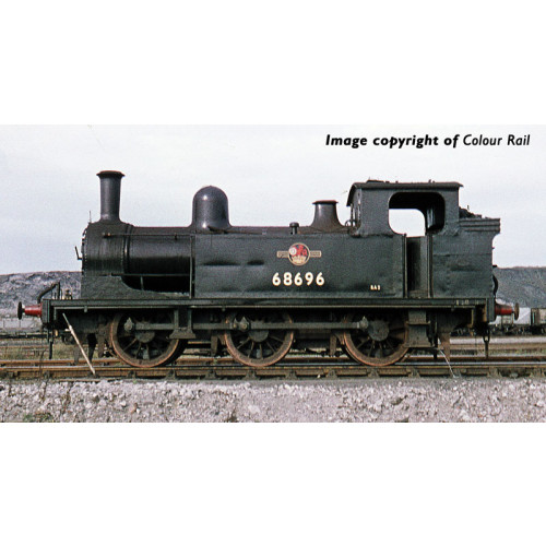 372-827 Class E1 J72 0-6-0T Tank Locomotive No.68696 in BR Black with Late Crest
