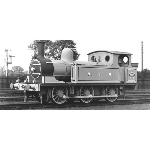 372-828 Class E1 J72 0-6-0T Tank Locomotive No.2173 in NER Lined Green