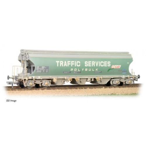 373-235 Bulk Grain Bogie Hopper Wagon 'Traffic Services' Weathered