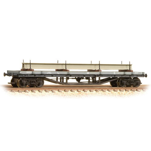 373-929 30 Ton Bogie Bolster Wagon in LMS Grey - Includes Wagon Load