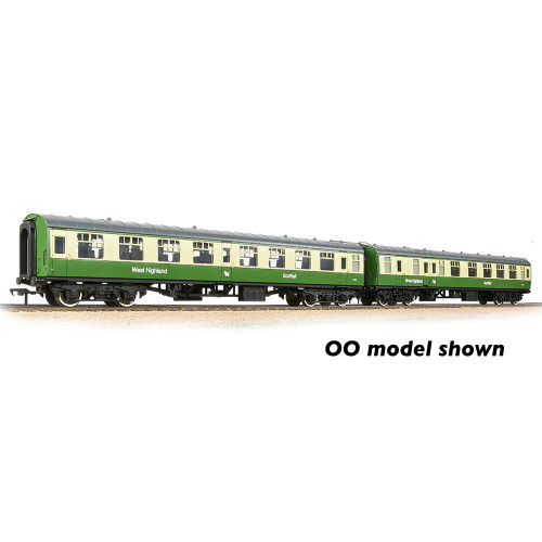374-993 BR Mk1 TSO & BSK 2-Coach Pack in BR West Highland Line Green & Cream