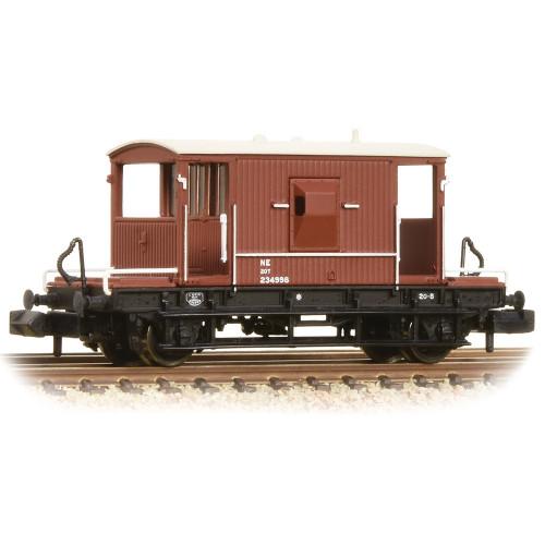 377-527C 20 Ton Brake Van in LNER Oxide Livery