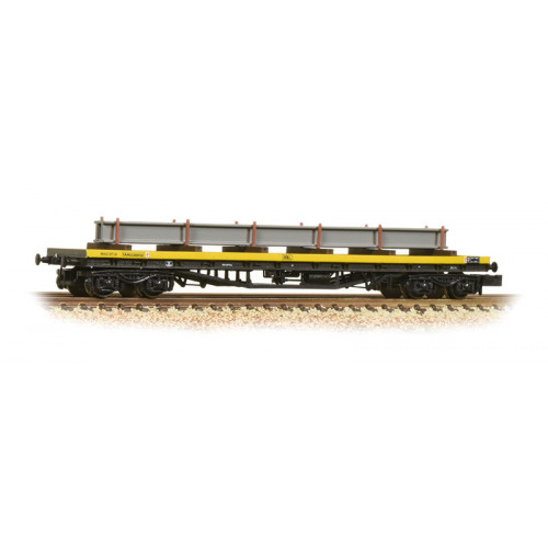 377-603A YAA 'Brill' Bogie Bolster Wagon in BR Departmental Yellow Livery with Load