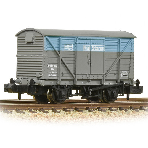377-629 BR 12T Ventilated Van Plywood Doors in BR Departmental Rail Stores Livery