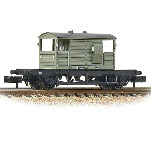 377-852A SR 25T Pill Box Brake Van with Right Hand Duckets in BR Grey (Early)