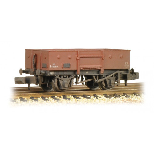 377-956 13 Ton High Sided Steel Wagon BR Bauxite (Late) Weathered