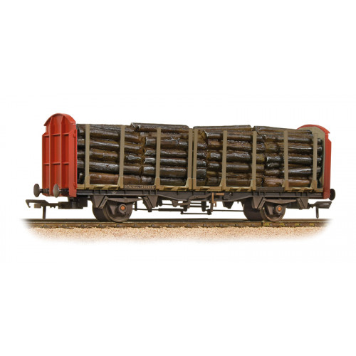 38-300A OTA (exVDA) Timber Carrier Wagon in Railfreight (Red) Livery with Lumber Load & Weathered