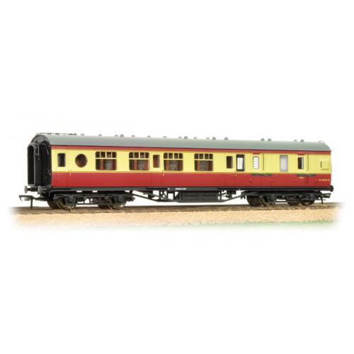 39-460 LMS 57 ft Porthole Corridor Brake 3rd BR Crimson & Cream
