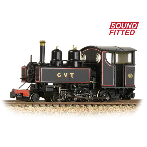 391-029SF Baldwin 10-12-D Tank Locomotive in Glyn Valley Tramway Lined Black Livery - Sound Fitted