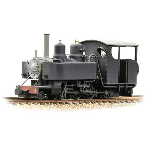 391-030 Baldwin 10-12-D Tank Locomotive No. 4 in Snailbeach District Railways Black Livery - Weathered