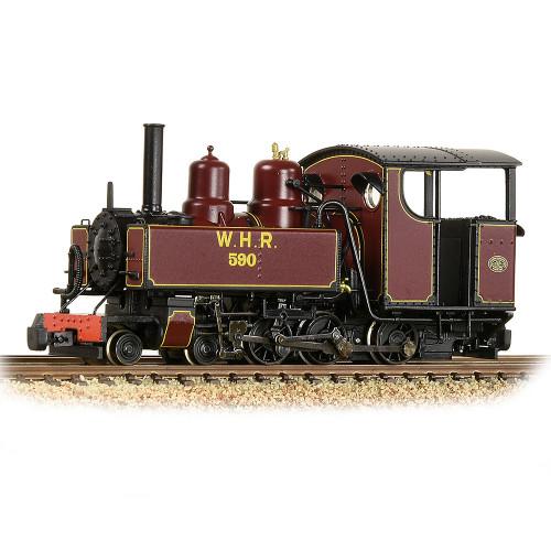 391-031 Baldwin 10-12-D Tank Locomotive No.590 in Welsh Highland Railway Lined Maroon Livery