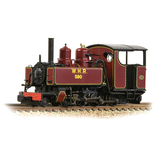 391-031DS Baldwin 10-12-D Tank Locomotive No.590 in Welsh Highland Railway Lined Maroon Livery - Sound Fitted