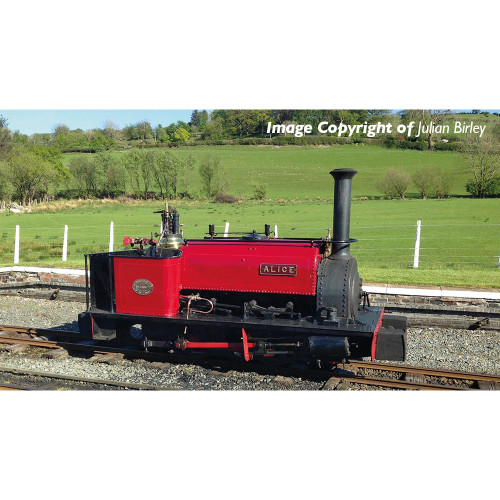 391-050 Quarry Hunslet 0-4-0 Steam Locomotive Alice in Dinorwic Quarry Red Livery