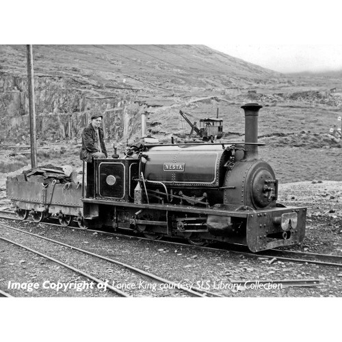 391-052 Quarry Hunslet 0-4-0 Steam Locomotive Nesta in Penrhyn Quarry Lined Black Livery