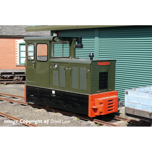 392-026 Baguley-Drewry 70hp Diesel Locomotive in Green Livery