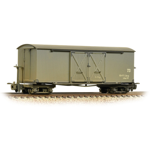 393-026A Bogie Covered Goods Wagon in Nocton Estates L.R. Grey Livery - Weathered
