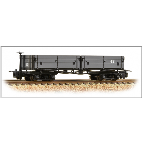 393-051 Open Bogie Wagon in Nocton Light Grey
