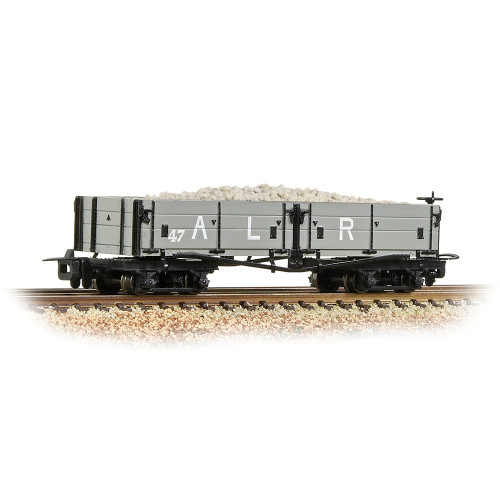 393-052A Open Bogie Wagon in Ashover L.R. Grey Livery - Includes Wagon Load