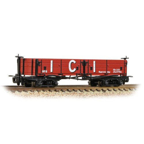 393-056 Open Bogie Wagon in ICI Red Livery