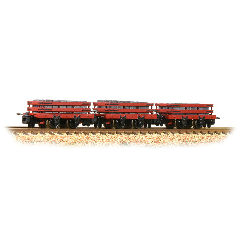 393-076 Slate Wagons in Red with Slate Load (Pk 3) - Includes Wagon Load