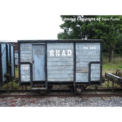 393-100 RNAD Enclosed-End Brake Van in RNAD Grey Livery
